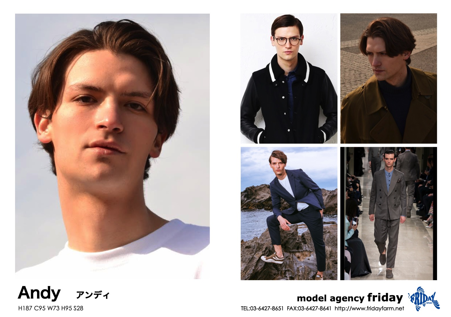 Andy - アンディ | model agency friday