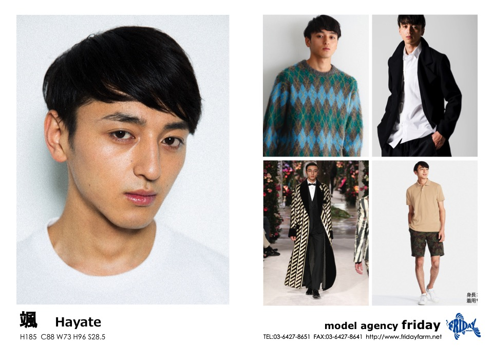 颯 - Hayate | model agency friday