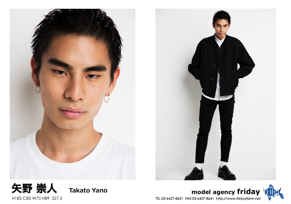 矢野 崇人 - Takato Yano | model agency friday