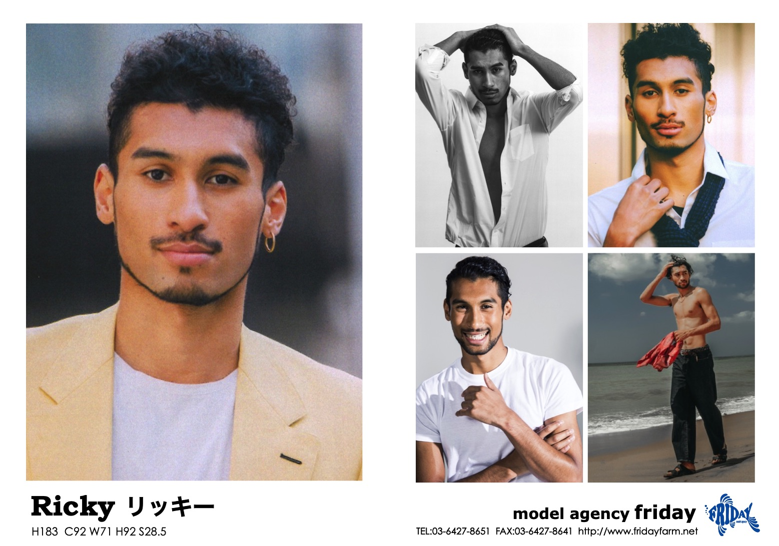 Ricky - リッキー | model agency friday