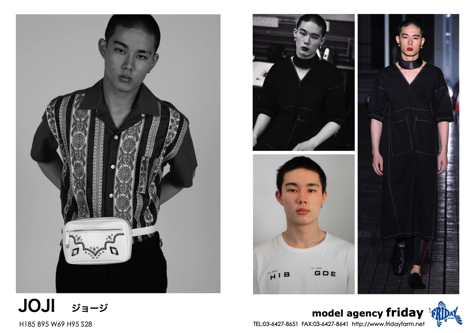 JOJI - ジョージ | model agency friday