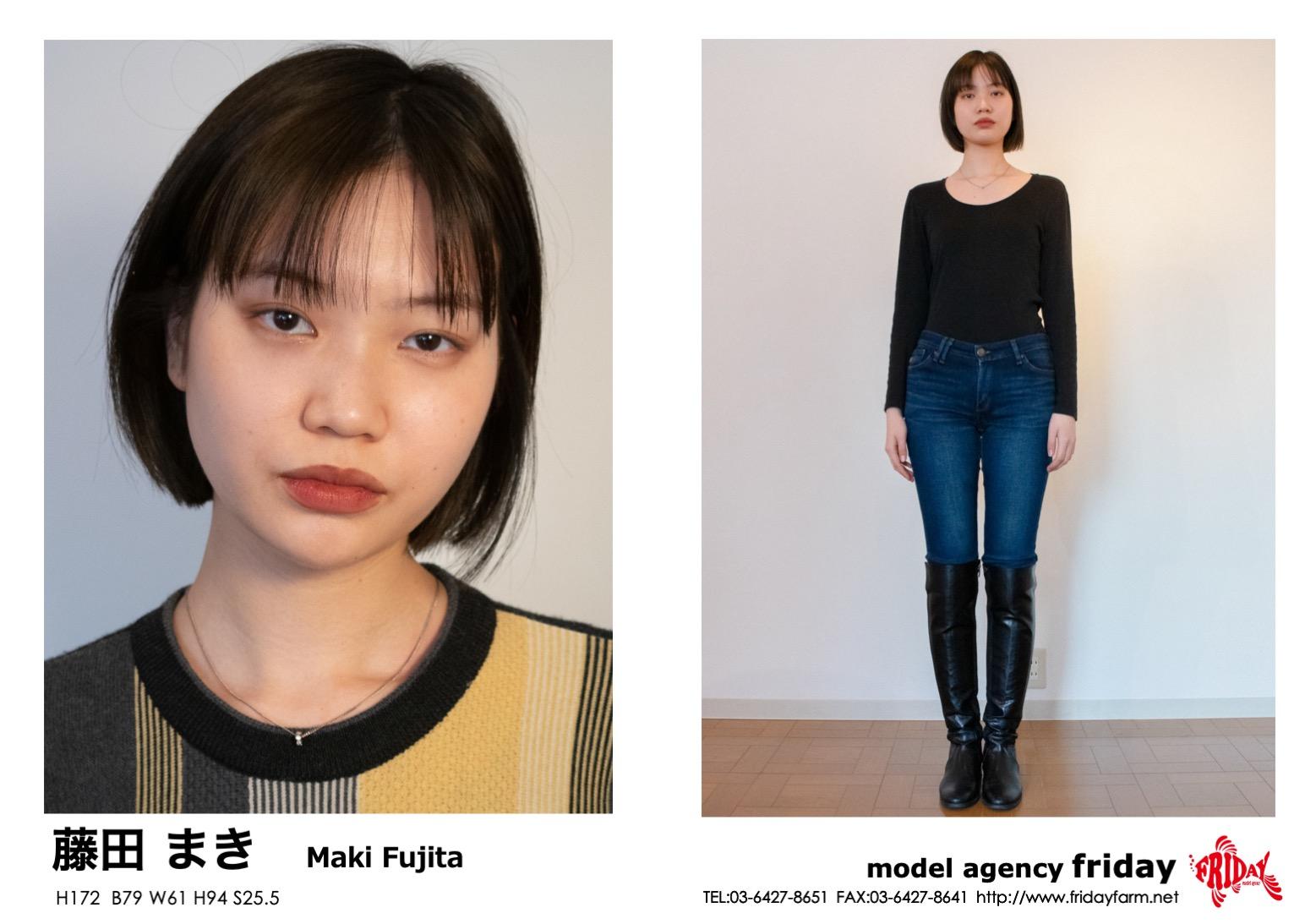 藤田 まき - Maki Fujita | model agency friday