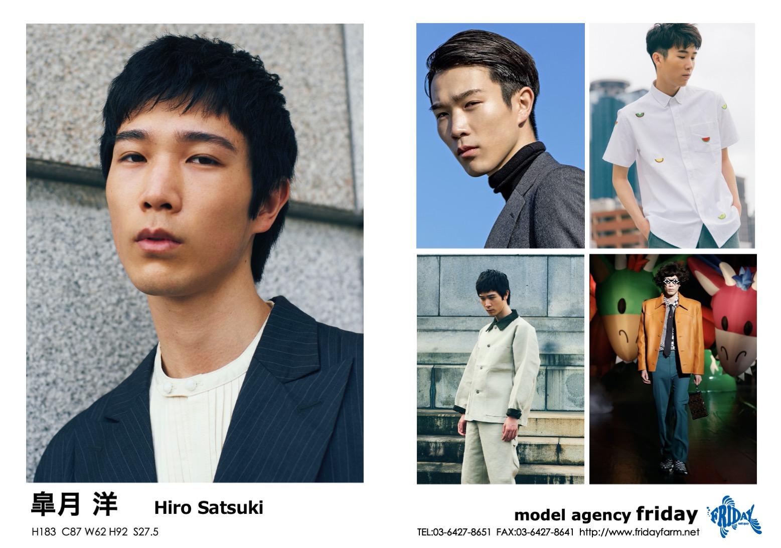 皐月 洋 - Hiro Satsuki   model agency friday