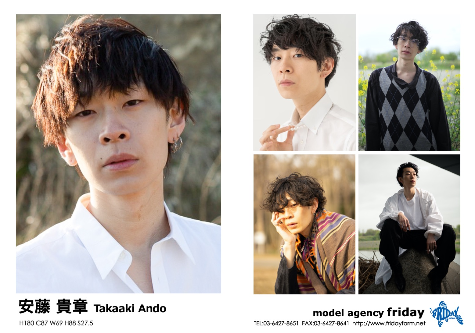 安藤 貴章 - Takaaki Ando   model agency friday