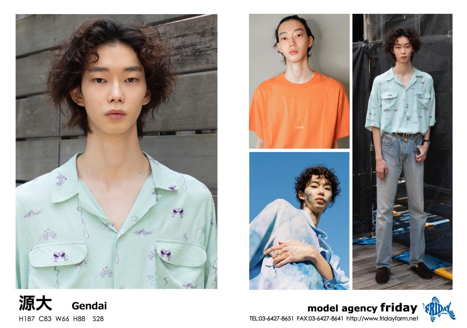 源大 - Gendai   model agency friday